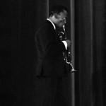 FRANCE. Paris. 8th arrondissement. Pleyel concert hall. US jazzman Miles DAVIS (trumpet) during the concert of the MILES DAVIS QUINTET including US jazz musicians Wayne SHORTER (saxophones), ...